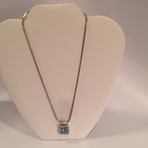 Brighton Blue Topaz Stone Necklace.